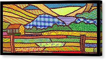 Quilted Massanutten Sunset Canvas Print