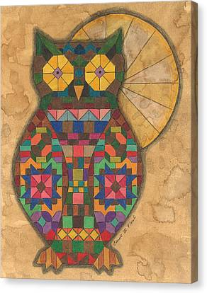 Quilted Owl Canvas Print