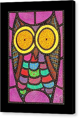 Quilted Owl Canvas Print by Jim Harris