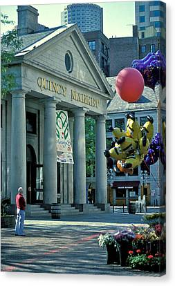 Quincy Market Boston Canvas Print by Gail Maloney
