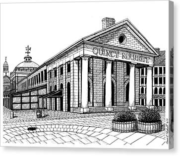 Quincy Market Canvas Print by Conor Plunkett