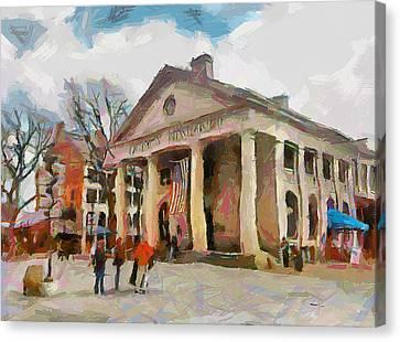 Quincy Market In Boston 2 Canvas Print by Yury Malkov