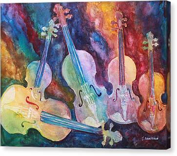 Classical Music Canvas Print - Quintet In Color by Jenny Armitage