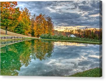 Canvas Print featuring the photograph Quit Reflection by Brent Durken