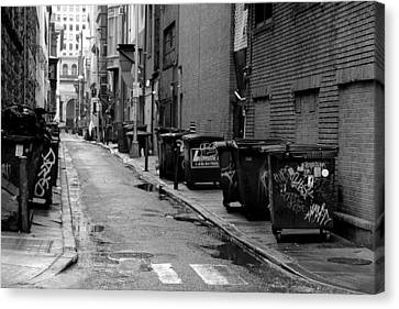Quite Alley After The Rain Canvas Print