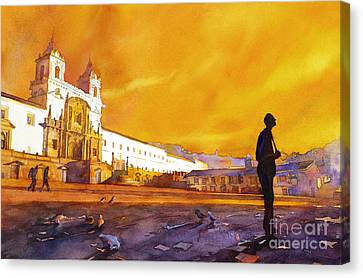 Quito Sunrise Canvas Print by Ryan Fox
