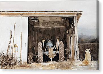 Shed Canvas Print - Quitting Time by Monte Toon