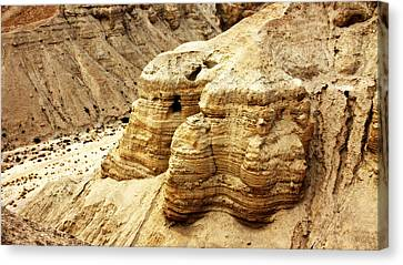 Qumran Cave 4 Canvas Print by Stephen Stookey