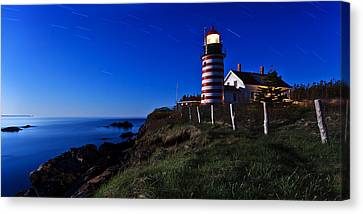 Quoddy Head By Moonlight Canvas Print by ABeautifulSky Photography