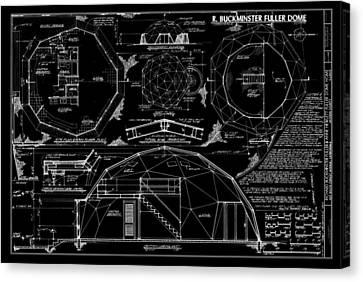 R. Buckminster Fuller Geodesic Dome Home Canvas Print