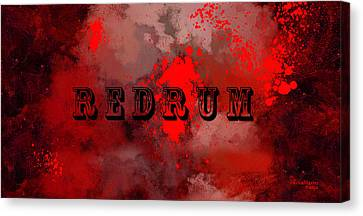 R E D R U M - Featured In Visions Of The Night Group Canvas Print by EricaMaxine  Price