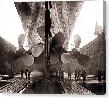 R M S Titanic Props  1911 Canvas Print by Daniel Hagerman