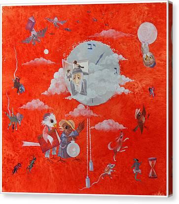 Jerusalem Canvas Print - Rabbi Resembles Time by Nekoda  Singer