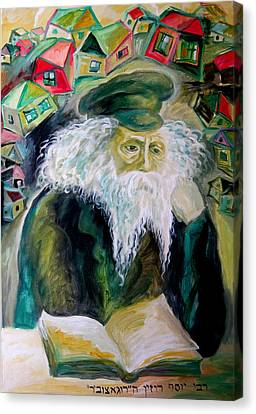Rabbi Yosef Rosen The Rogatchover Gaon Canvas Print by  Leon Zernitsky