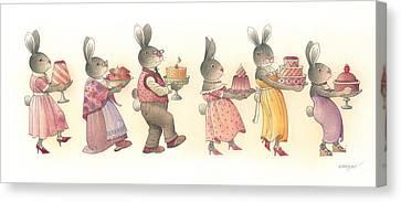 Rabbit Marcus The Great 11 Canvas Print by Kestutis Kasparavicius