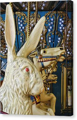 Canvas Print featuring the photograph Rabbit On The Carousel by Sami Martin