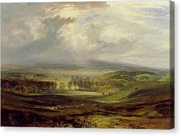 Raby Castle Canvas Print by Joseph Mallord William Turner