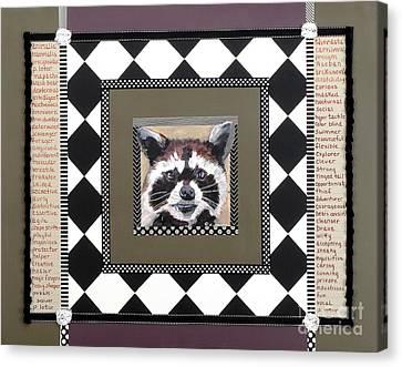 Raccoon Speaks Canvas Print