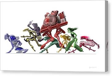Race Canvas Print by Augustinas Raginskis