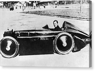 Race Car Driver Gwenda Stewart Canvas Print by Underwood Archives