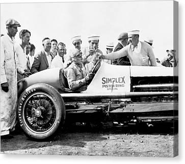 Race Car Driver Ray Keech Canvas Print
