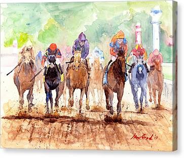 Dirt Canvas Print - Race Day by Max Good