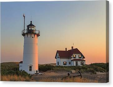 Race Point Lighthouse Canvas Print by Bill Wakeley