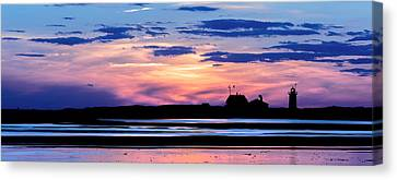 Race Point Lighthouse Silhouette  Canvas Print by Bill Wakeley