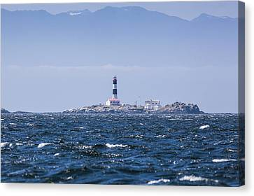 Race Rocks Lighthouse Is Situated Canvas Print by Debra Brash