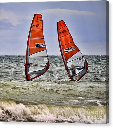 Race To The Beach Canvas Print by David  Hollingworth