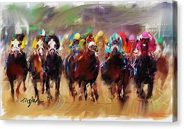 Race To The Finish Line Canvas Print