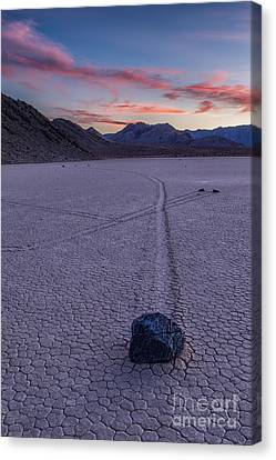 Race Track Death Valley Canvas Print by Jerry Fornarotto