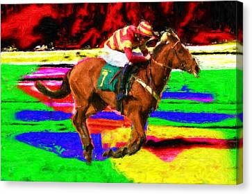 Racehorse Canvas Print