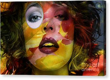 Rachel Mcadams Painting Canvas Print by Marvin Blaine