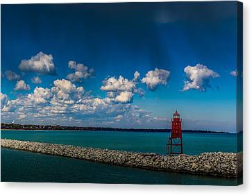 Racine Harbor Lighthouse Canvas Print