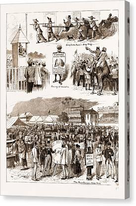 Hong Kong Canvas Print - Racing In The East Turf Notes At Umballa And Hong Kong by Litz Collection