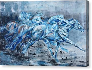 Racing Canvas Print by Jennings Ingram
