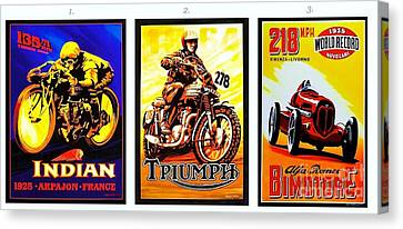 Racing Poster Canvas Print by Pg Reproductions
