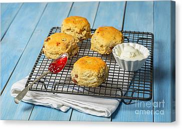 Rack Of Scones Canvas Print by Amanda Elwell
