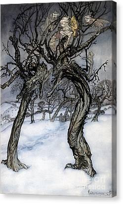 Rackham: Whisper Trees Canvas Print by Granger