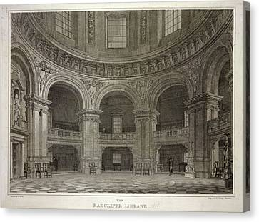 Radcliffe Library Canvas Print by British Library