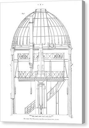 Radcliffe Observatory Telescope Canvas Print