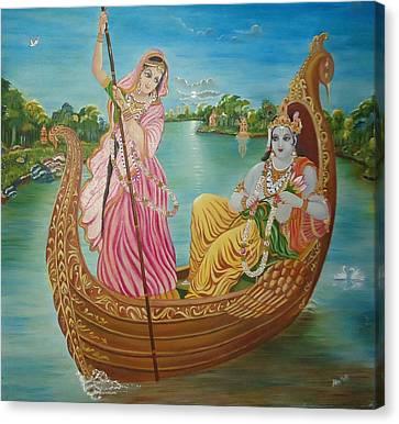 Radha Krishna Canvas Print by Alka  Malik