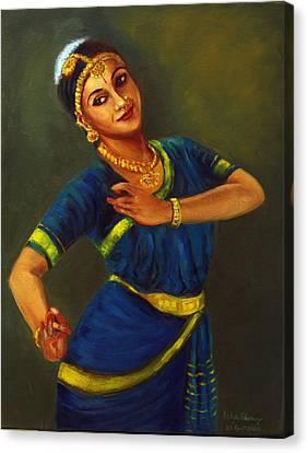 Radha Playing Krishna Canvas Print