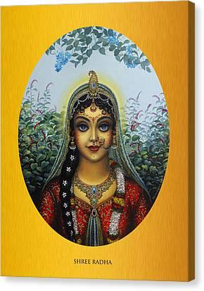 Radha Canvas Print by Vrindavan Das
