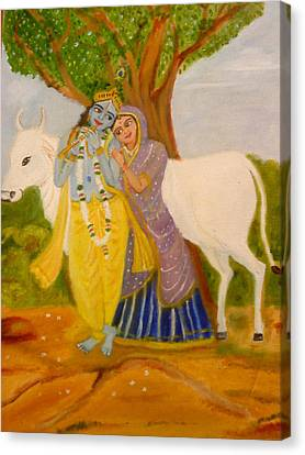 Radhakrishna Canvas Print