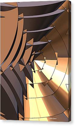 Radial Edges - Bronze Canvas Print by Stephen Younts