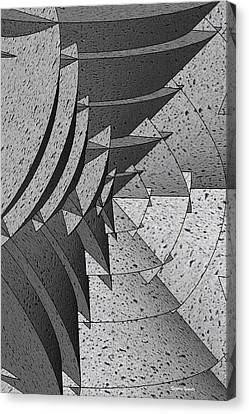 Radial Edges - Concrete Canvas Print by Stephen Younts
