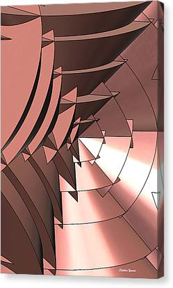 Radial Edges - Copper Canvas Print by Stephen Younts