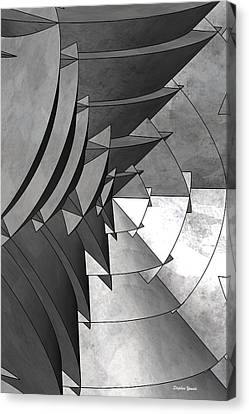 Radial Edges - Galvanized Canvas Print by Stephen Younts